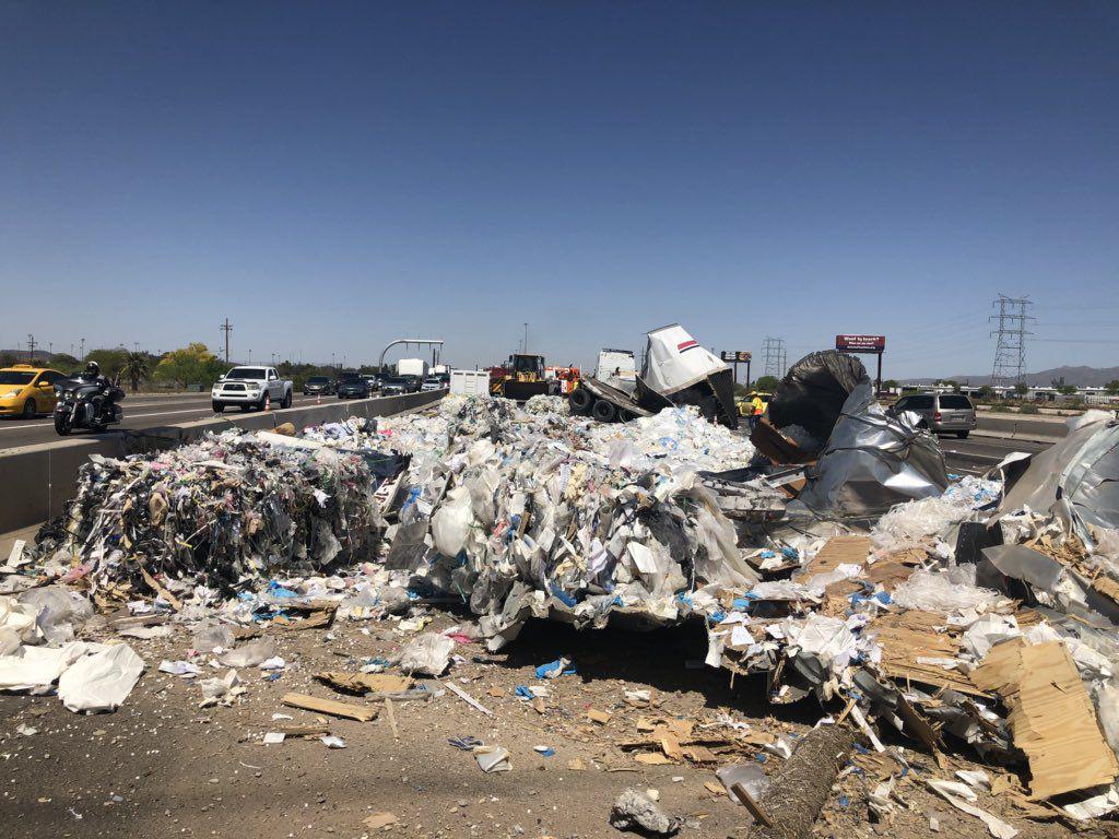 Crash at I-10 NW of Tucson