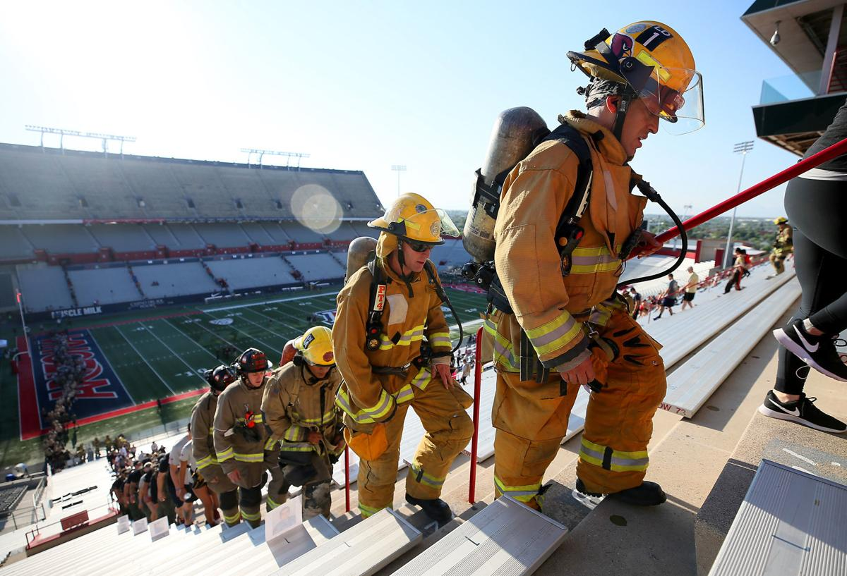 9/11 Tower Challenge UA Stadium w/Firefighters