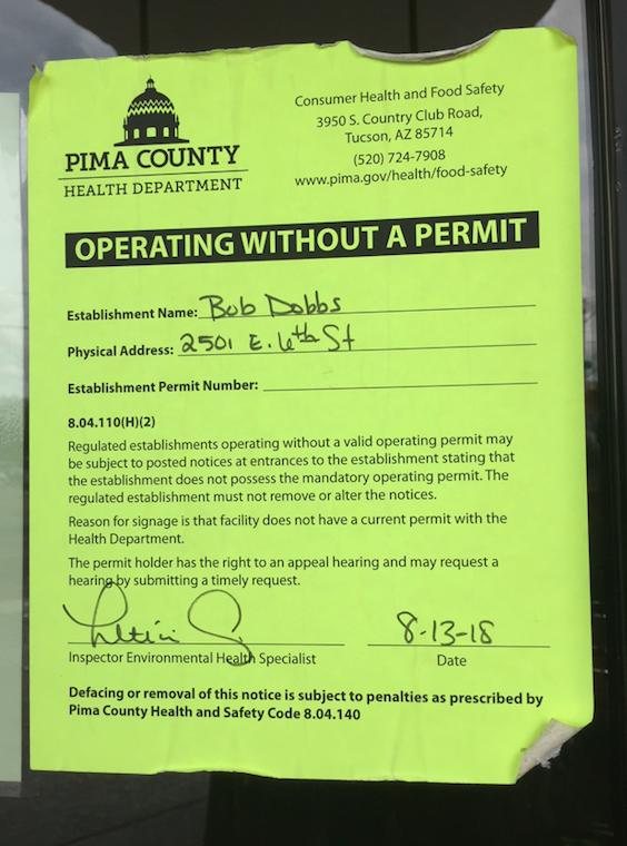 Health department notice