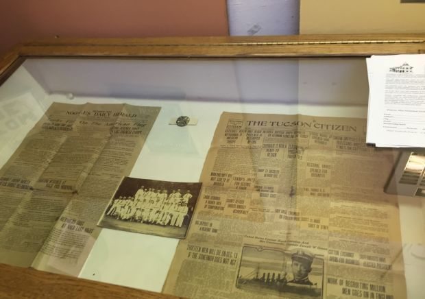Old newspaper clippings from 100-year-old Nogales time capsule