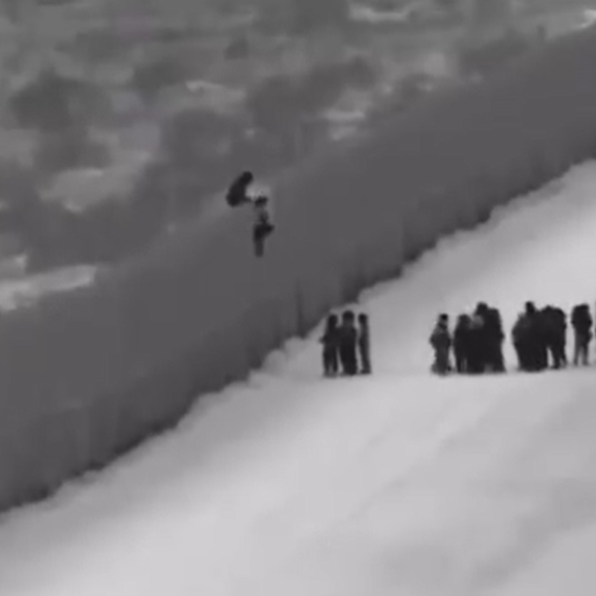 Watch 110 Migrants Use Ladder To Scale Border Wall In Arizona