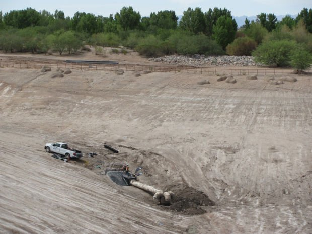 'Deep Pond' drained for repairs