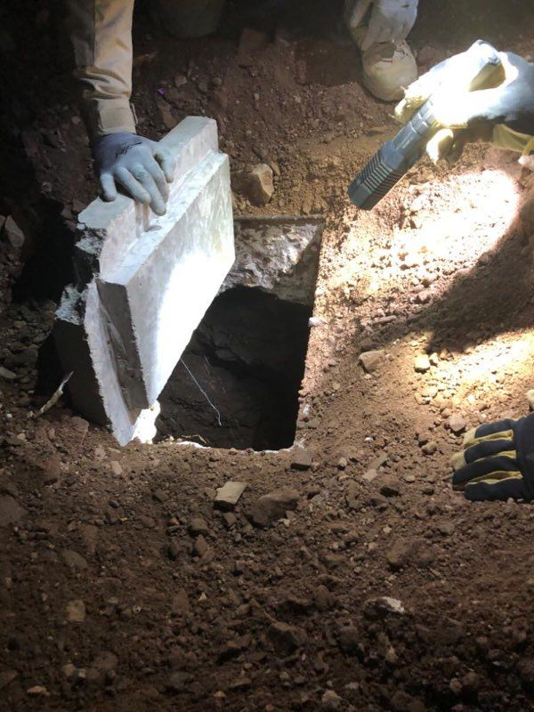 US and Mexican federal agents discover tunnel entrance underneath Nogales.