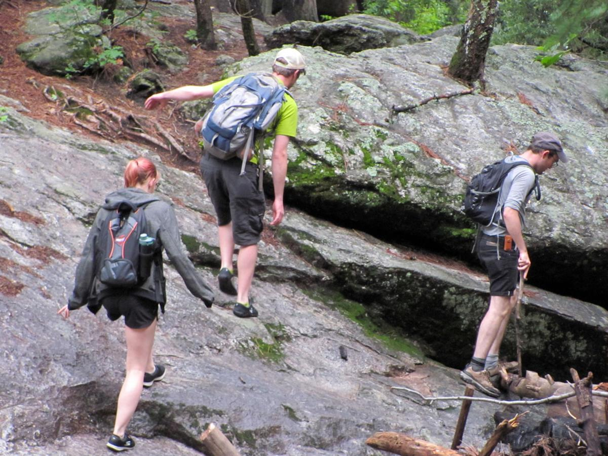 Hikers in Marshall Gulch