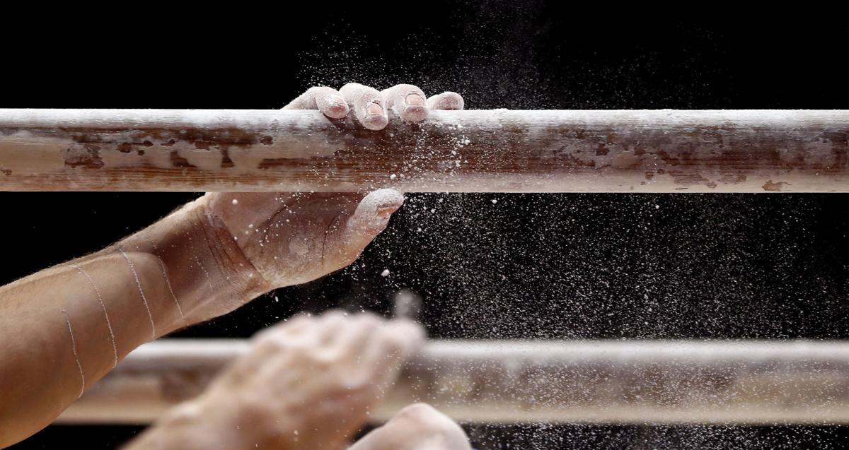 Men's gymnastics stock image