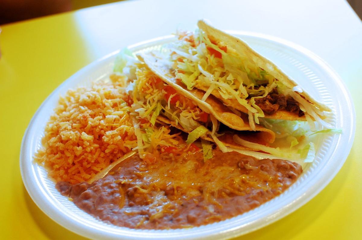 Shredded beef tacos at Bernardo's