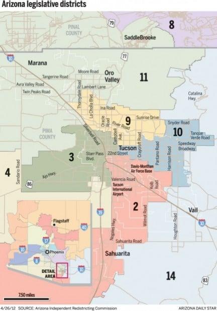 Map Of Arizona Legislative Districts.Feds Approve Arizona Legislative Maps Govt And Politics Tucson Com