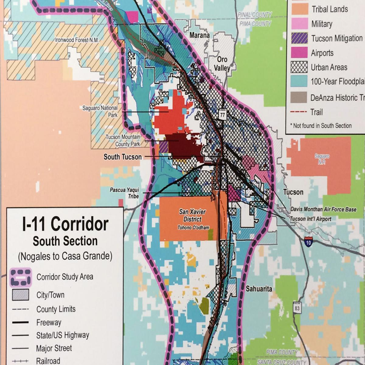 Here S The First Glimpse Of Arizona S Proposed Interstate 11 Routes Local News Tucson Com