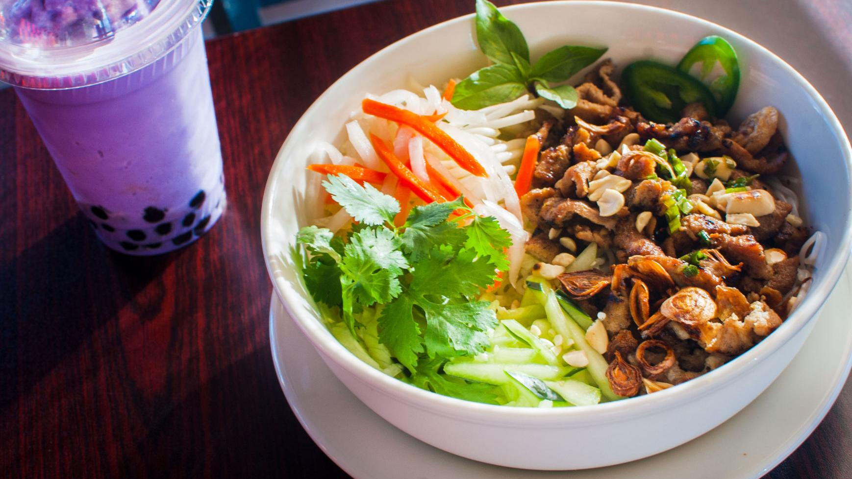 Sip boba tea and slurp noodles at this new Vietnamese spot
