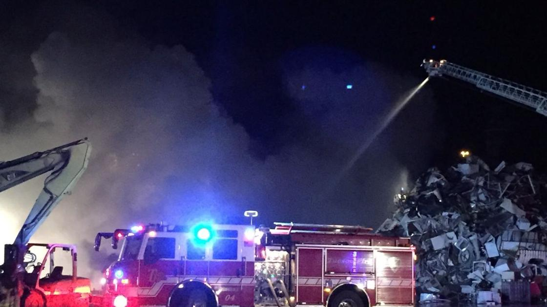 Tucson Firefighters Battle Metal Recycling Plant Fire
