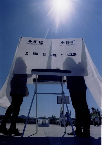 Mexico voting booth