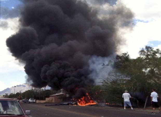 Helicopter crash at Park and Glenn