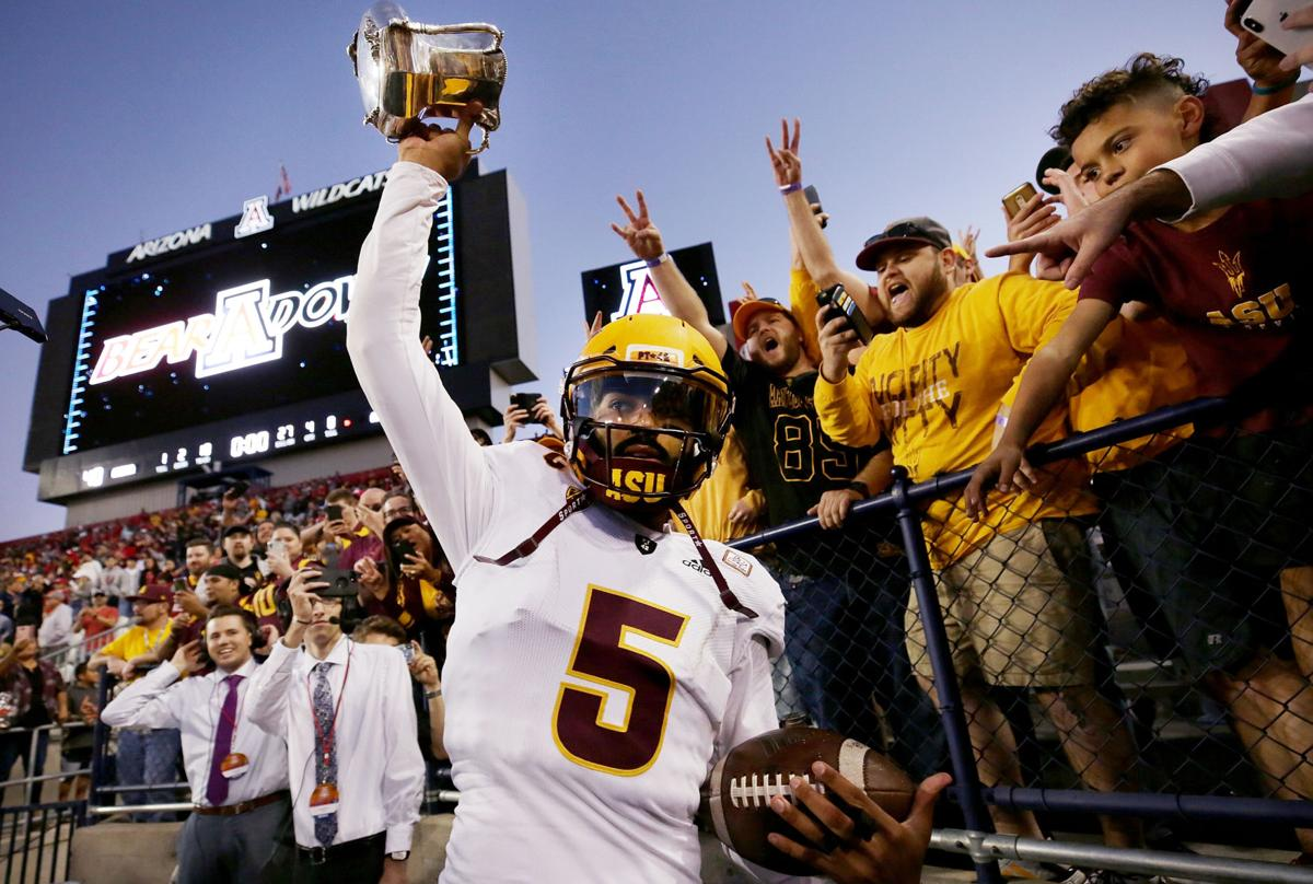 Uofa Football Score >> Territorial Cup Asu Rallies From 19 Point Deficit To Stun