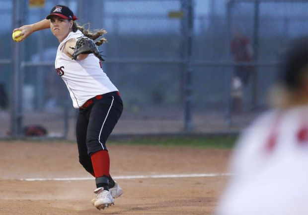 Softball: Empire's slugging pitcher excels in circle, at the plate