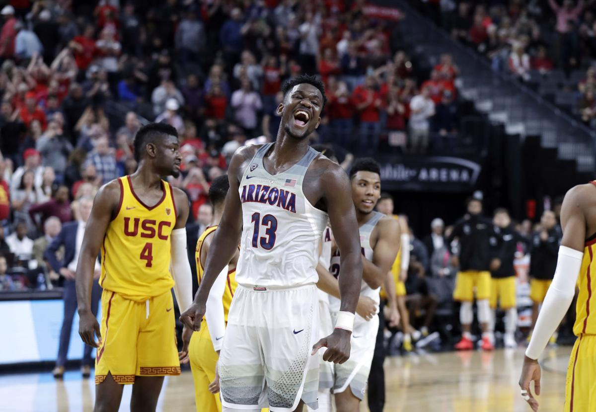 b40228f5731 Deandre Ayton leads Wildcats to 75-61 win over USC for Pac-12 Tournament  title | Arizona Wildcats basketball | tucson.com