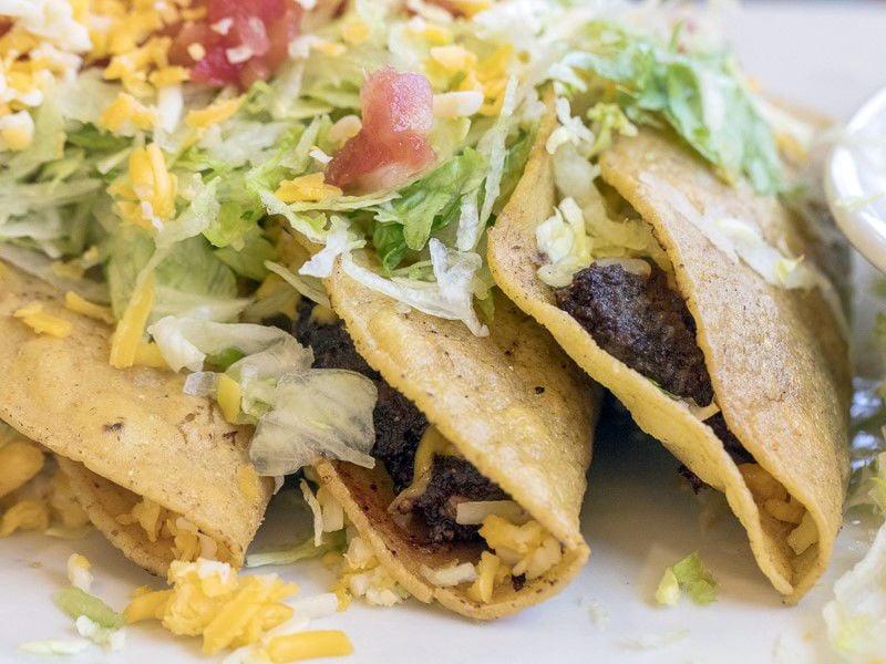 Beef patty tacos