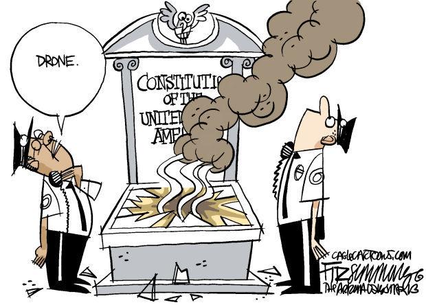 Daily Fitz Cartoon: Drones