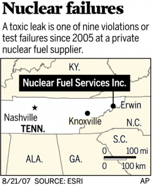 Dangerous Tennessee radioactive spill kept from public; papers sealed