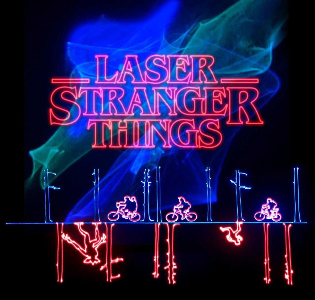 Stranger Things' laser music show at Tucson's Flandrau