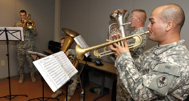 At Ft. Huachuca and elsewhere, military bands play the blues