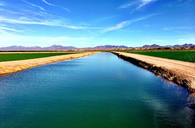 Irrigation district canal