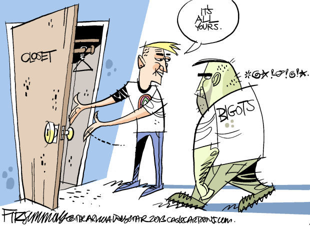 Daily Fitz Cartoon: Into the closet