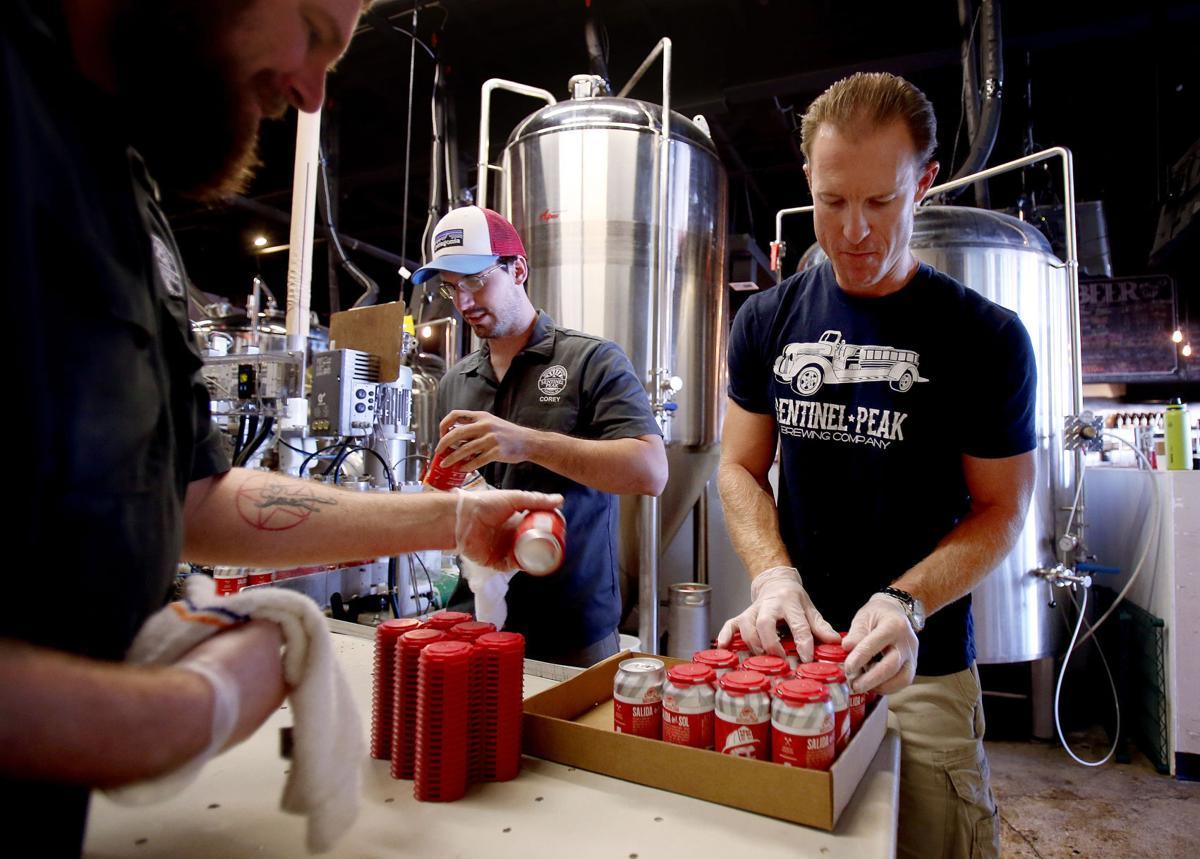 Sentinel Peak Brewing Company canning