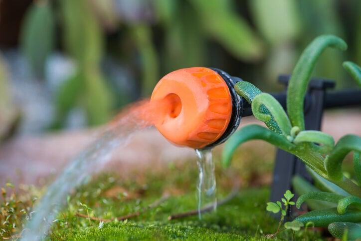 Micro drip irrigation system drip emitter.