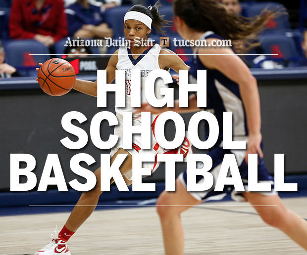 Girls high school basketball logo