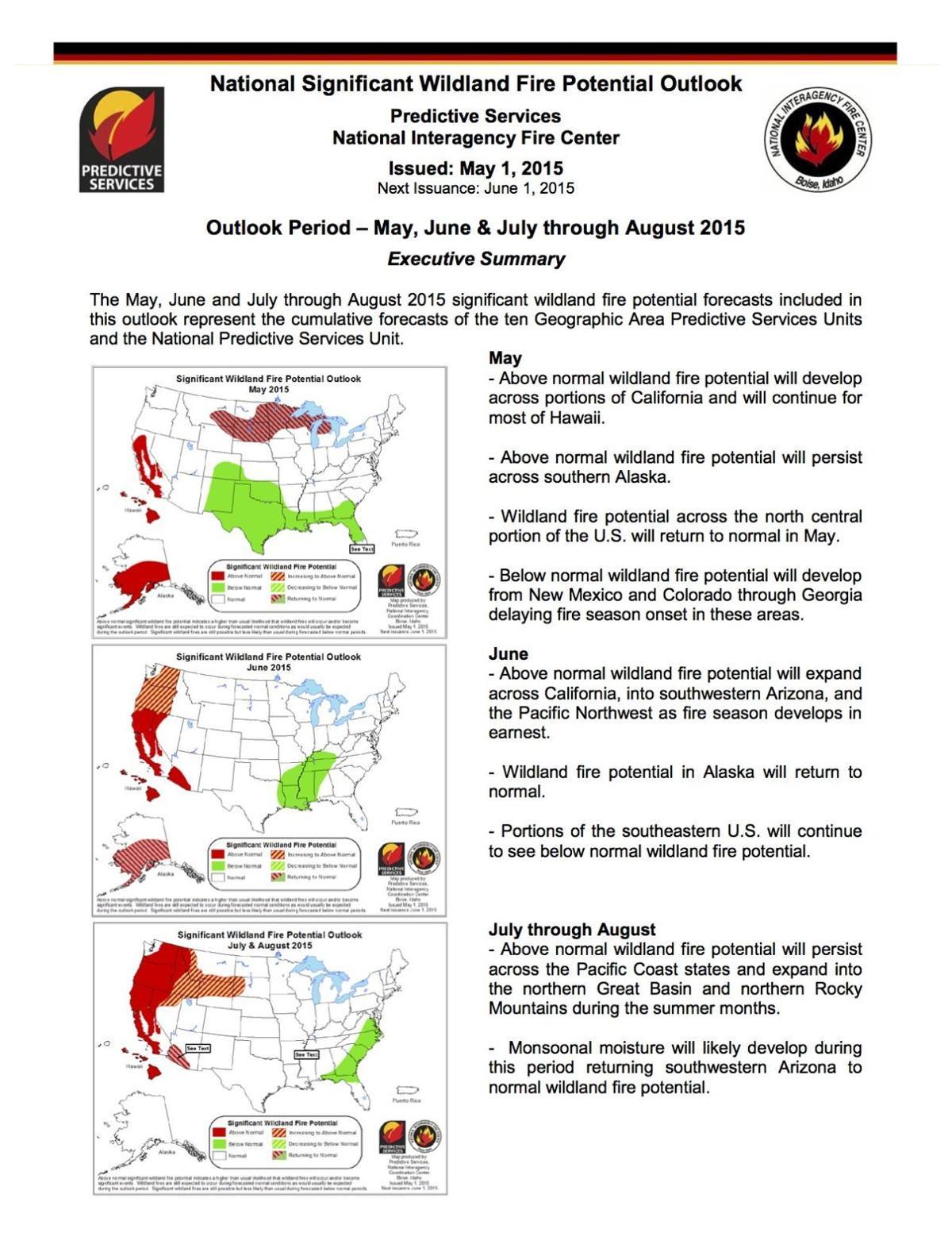 Grassland fire danger worsens in June