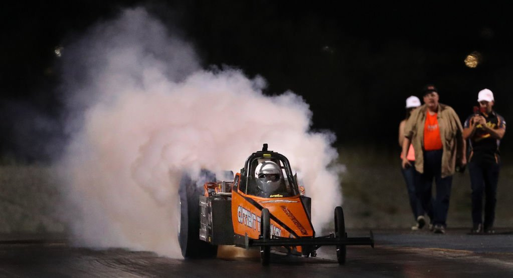 Steve Huff, record-breaking electric dragster