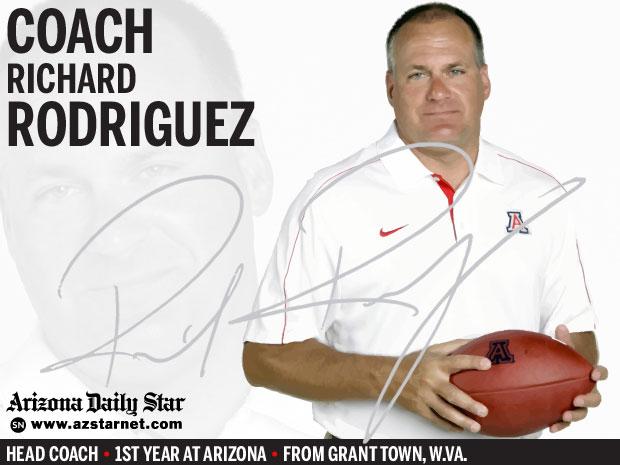 University of Arizona Wildcats head coach Richard Rodriguez