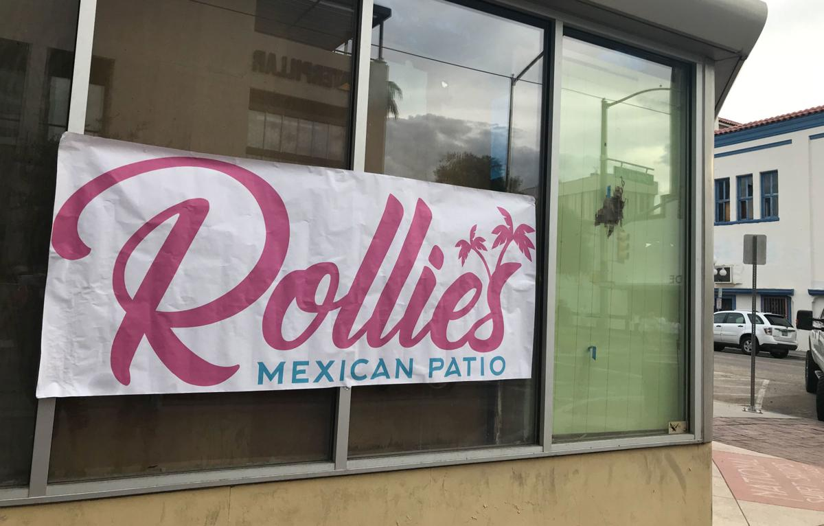 Rollie's Mexican patio sign downtown
