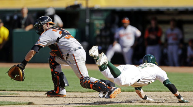 Game of the day: Athletics 9, Orioles 8: Oakland rallies to end 4-game losing streak