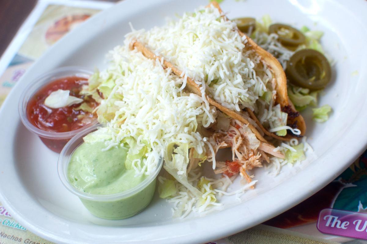 Chicken tacos at Iguana Cafe
