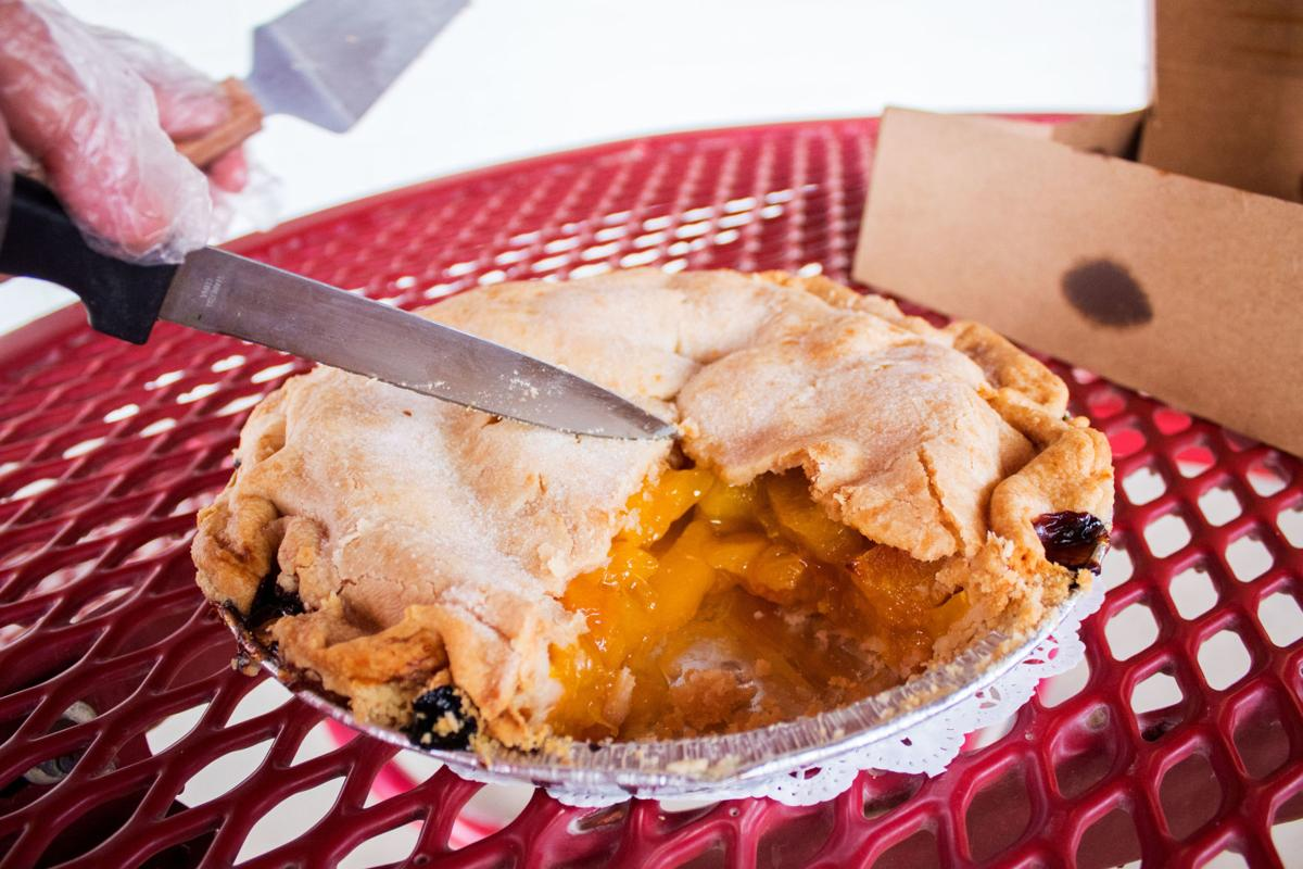 Peach pie at Apple Annie's