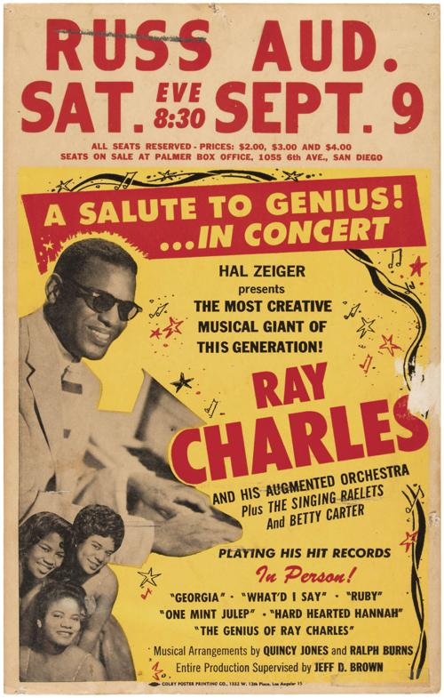 Ray Charles 1961 concert ad rakes in more than $5K at auction | | tucson.com