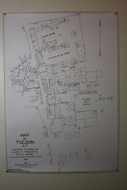 Fergusson map of Tucson