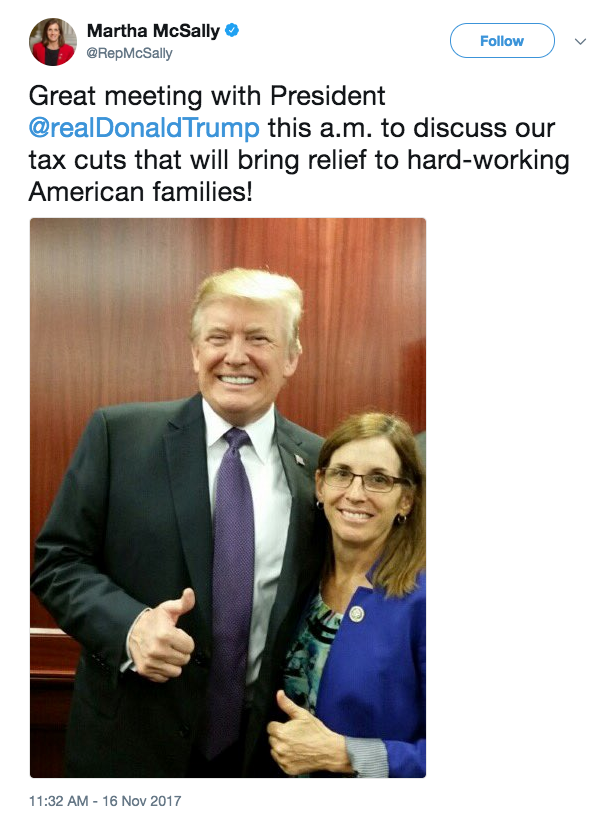 Rep. Martha McSally with President Trump