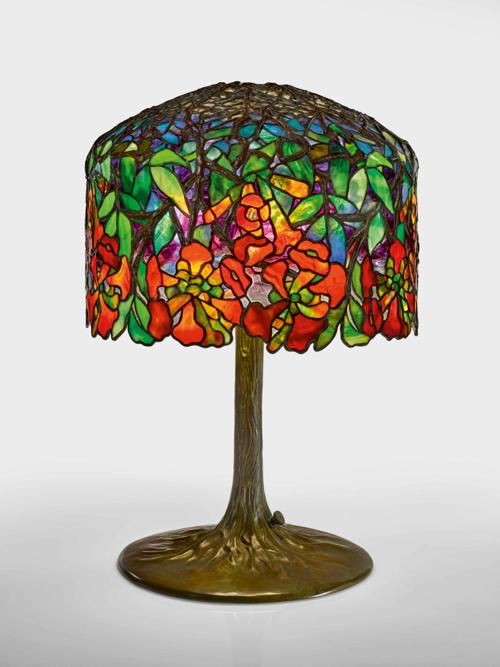 "8058a566a10 The rare ""Trumpet Creeper"" table lamp by Tiffany Studios brought almost   2.3 million last month at Sotheby s New York."