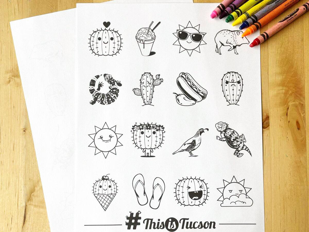 #This coloring page icons