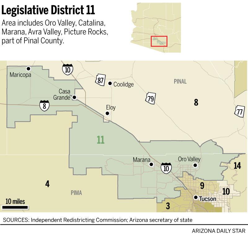 Map Of Arizona By County.Legislative District 11 Map Tucson Com