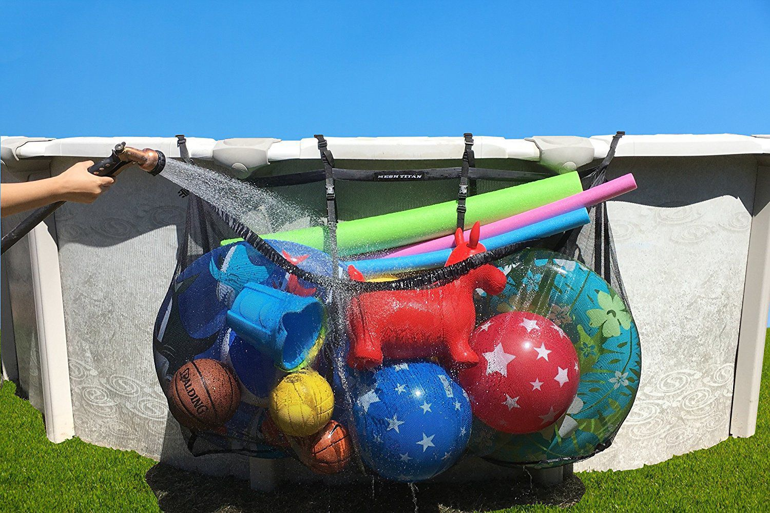 Our Favorite Storage Solution For Pool Floats And Sports Balls