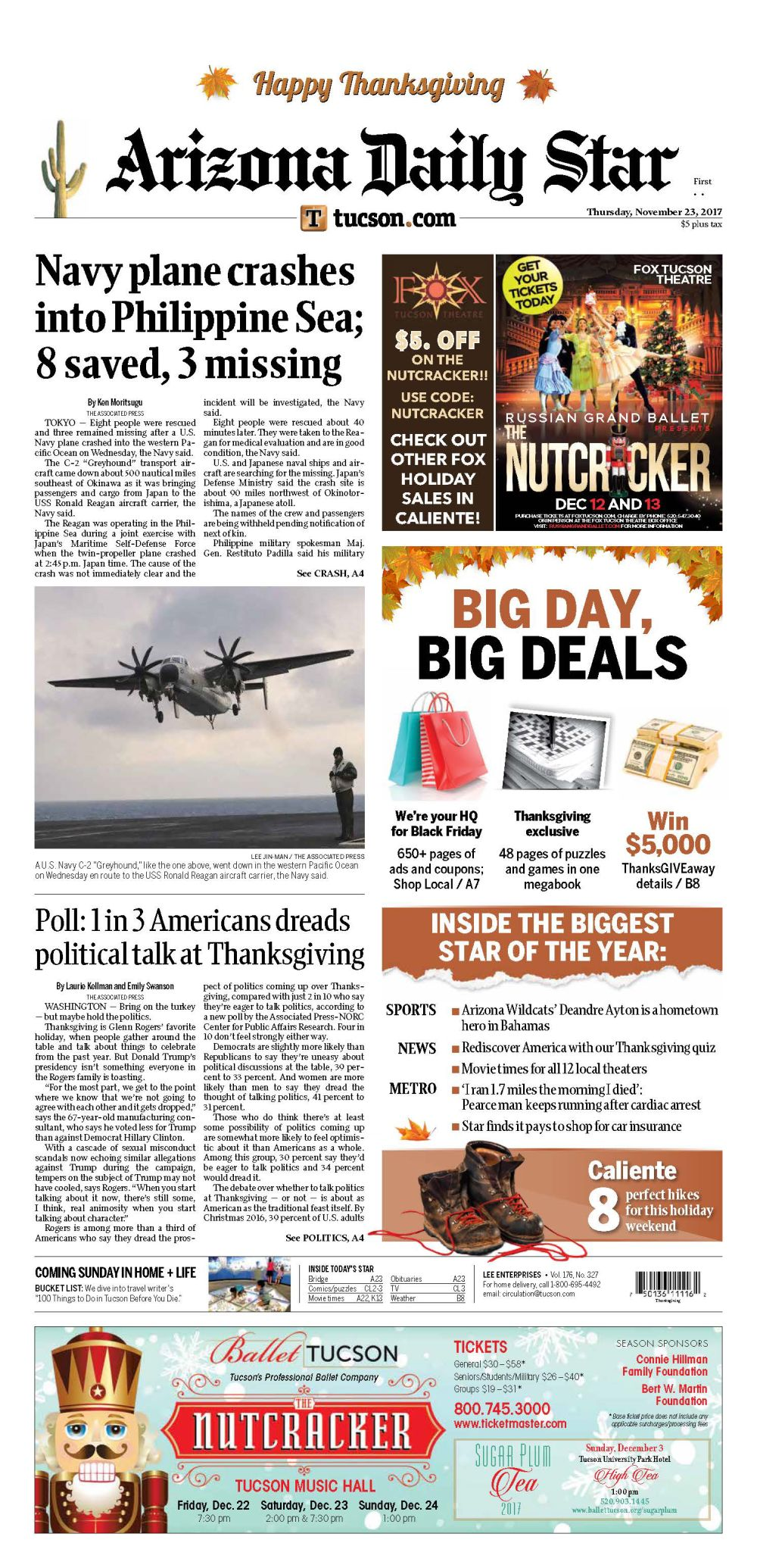 Buy Thanksgiving Day sales-packed Star right now at Tucson-area ...