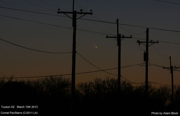 Comet Pan-STARRS visits the sky over Tucson