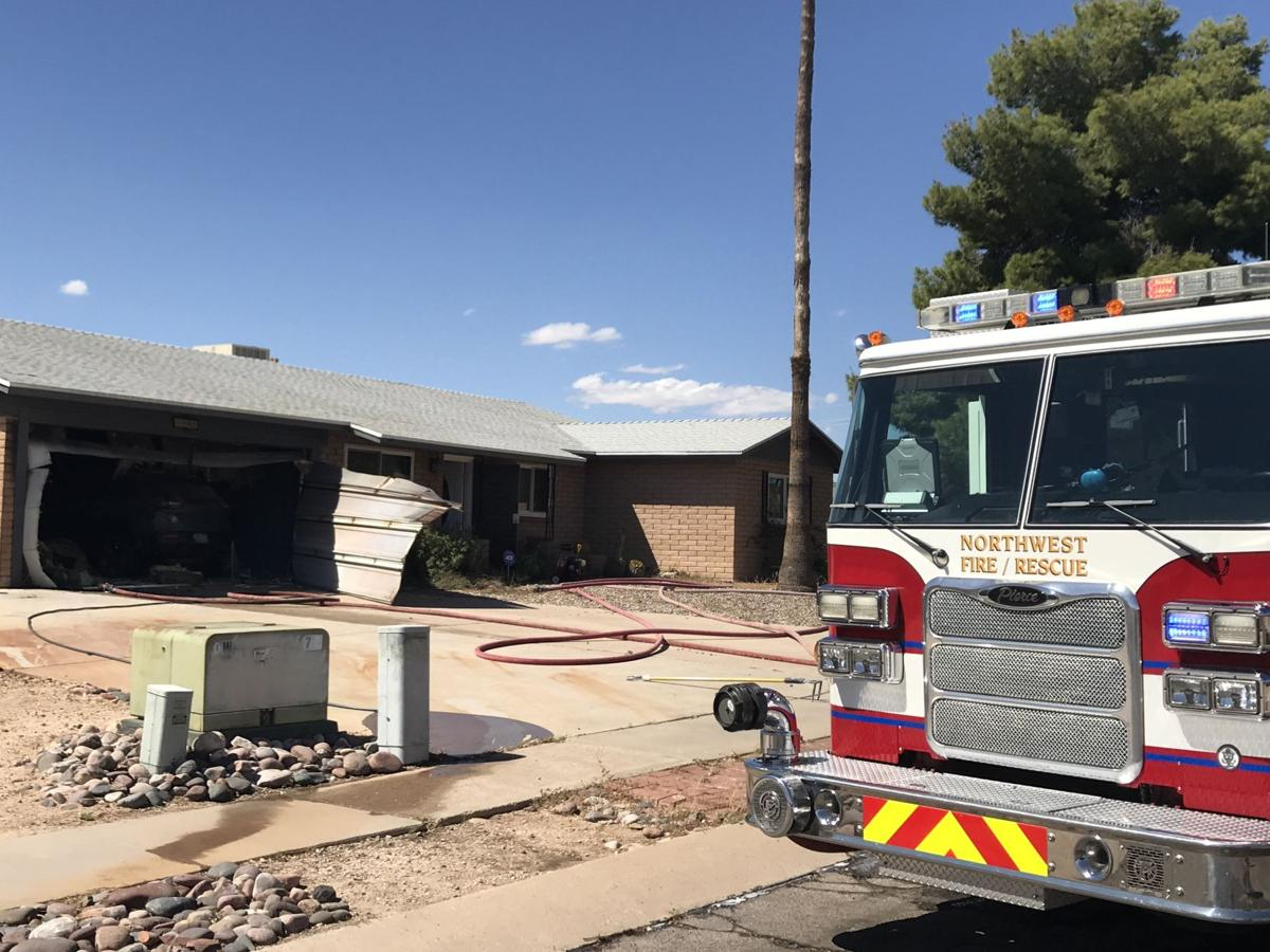 Torch used to burn weed sparks garage fire on NW side