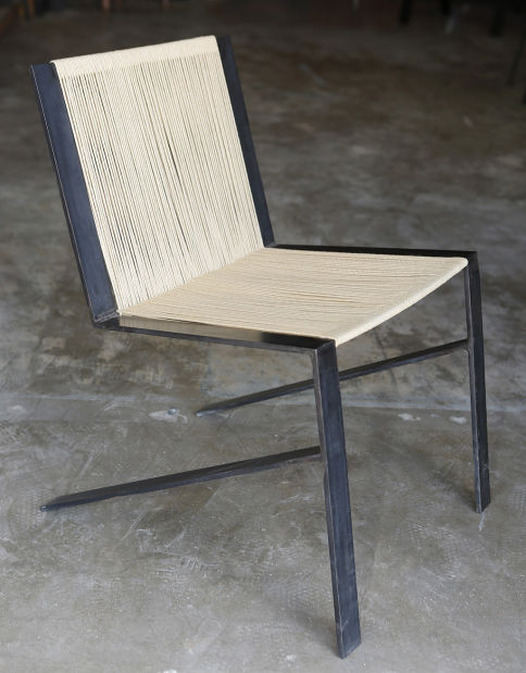 Cade Hayes Chairs Are Made Of Materials Such As Steel Leather Nylon Cording Hemp And Jute