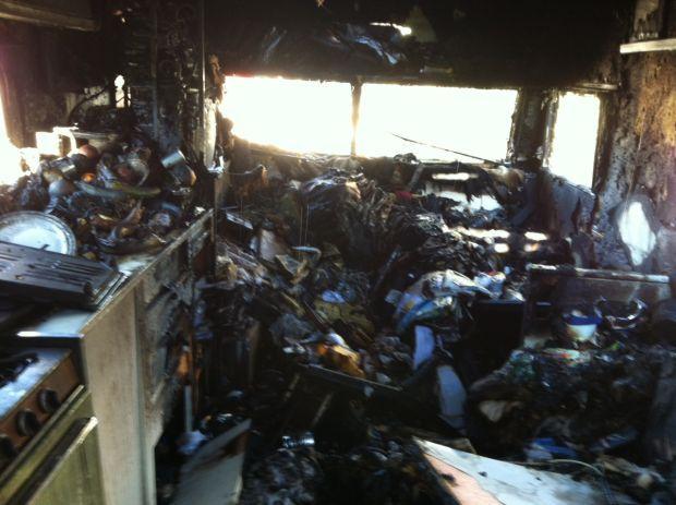 Extension cord fire damages Tucson trailer