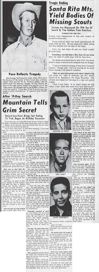 Bodies of lost boys found (Dec. 5, 1958 continuation)