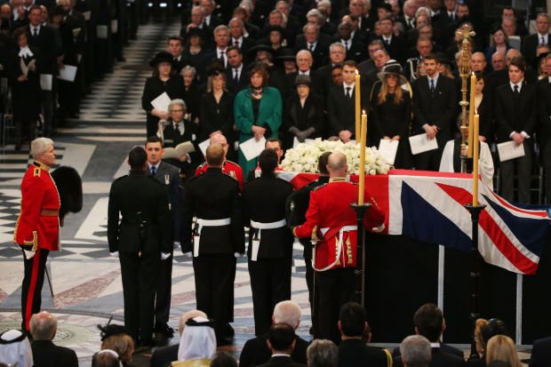 Funeral for Margaret Thatcher
